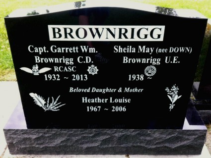 Upright Double - Black Granite | Mark Memorial Funeral Services