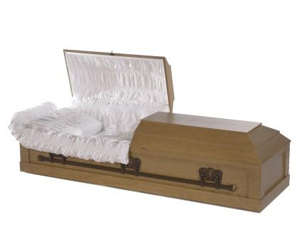 Oak Veneer   Mark Memorial Funeral Services