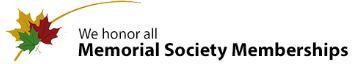 We honor all Memorial Society Logos